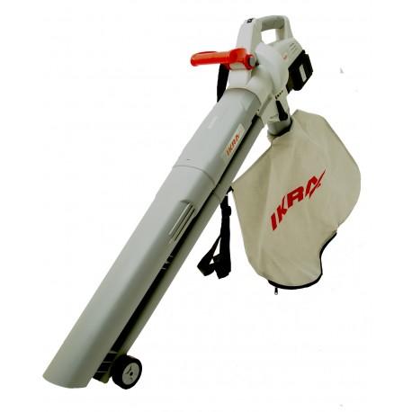 Aspirareur -souffleur broyeur de feuilles à batterie 2 x 20 volts